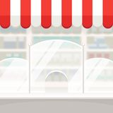 Facade of a Shop Store or Pharmacy Background Royalty Free Stock Photography