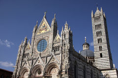The Facade of the Siena Cathedral Royalty Free Stock Images