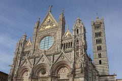 Facade of the Siena cathedral Royalty Free Stock Images