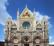 Facade of Siena dome Royalty Free Stock Photos