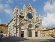 Facade of the Siena Duomo. Tuscany, Italy Royalty Free Stock Photography