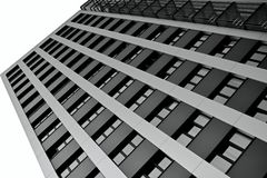 The facade of a skyscraper Royalty Free Stock Photo