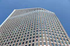 Facade of a skyscraper in the city of The Hague, The Netherlands Royalty Free Stock Photo