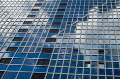 Facade of a skyscraper in Frankfurt, Germany Stock Photo