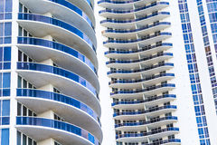 Facade of skyscraper in Sunny Isles Royalty Free Stock Photo