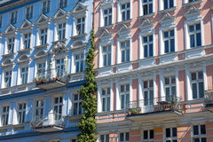 Facade of some restored house. Seen in Berlin royalty free stock image