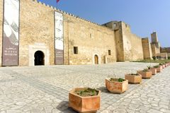 Facade of the Sousse Archaeological Museum, Tunisia royalty free stock photos