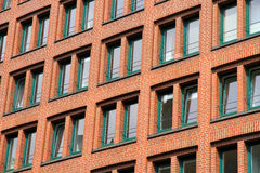 Facade in the Speicherstadt in Hamburg Royalty Free Stock Photography