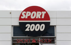 Facade of the sport 2000 retail store. Paris , France-september 15, 2015: facade of the sport 2000 retail store in Paris, France Royalty Free Stock Photography