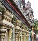 Facade of Sri Krishnan Temple at Waterloo Street stock image