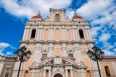 Facade of St. Casimir Church in Vilnius, Lithuania. Stock Image