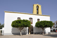 Facade of St Gertrudis de Fruitera church Stock Photography