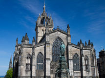 Facade of St. Giles Cathedral. Edinburgh, Scotland, United Kingdom Stock Images