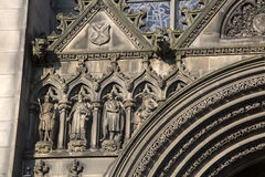 Facade of St Giles Cathedral Church; Royal Mile; Lawnmarket; Edi Stock Photography