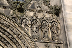 Facade of St Giles Cathedral Church; Royal Mile; Lawnmarket; Edi Royalty Free Stock Images