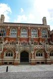 Facade of St Johns Divinity School, England Royalty Free Stock Photos