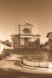 Facade of St Joseph Church in Kalkara Malta HDR sepia tone. Vertical photography Royalty Free Stock Photography