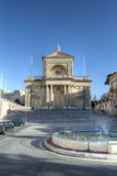 Facade of St Joseph Church in Kalkara Malta HDR. Vertical photography Stock Images