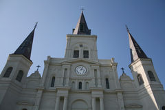 Facade of St Louis Cathedral Royalty Free Stock Images