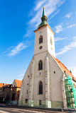Facade of St. Martin Cathedral in Bratislava Royalty Free Stock Photos