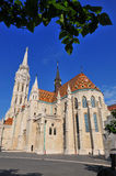 Facade of St. Mattew church in Budapest Stock Photo