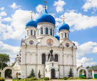 Facade of St. Nicholas Church in the village of Rogachevo Royalty Free Stock Photography