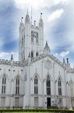 Facade of St. Paul's Cathedral, kolkata Royalty Free Stock Photography