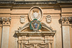 Facade of the St. Paul's Cathedral, Mdina Royalty Free Stock Images