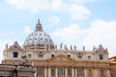 Facade of St. Peter Basilica Royalty Free Stock Images