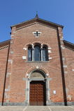 Facade of St. Peter Martyr church, Monza Royalty Free Stock Images
