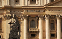 Facade of St. Peter's Basilica Royalty Free Stock Image