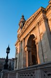 Facade of St. Stephen`s Basilica in Budapest Royalty Free Stock Photography