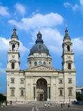 Facade of St. Stephen's Basilica in Budapest Royalty Free Stock Photo