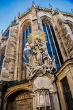 The facade of St. Stephen`s Cathedral royalty free stock photos