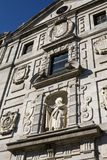 Facade of St. Teresa Convent, Avila. The facade centers on a statue of St. Teresa. Santa Teresa is Avila's patron saint Royalty Free Stock Photography