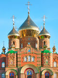Facade of St.Vladimir Cathedral. Cathedral of Grand Prince St. Vladimir, Equal-to-the-Apls. (The biggest orthodox temple on the Eastern Ukraine, location stock photo
