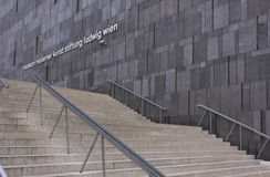 Facade and staircase of Mumok museum Stock Image