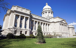 Facade of State Capitol in Frankfort Stock Images