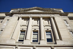 Facade of State Capitol in Frankfort stock photo