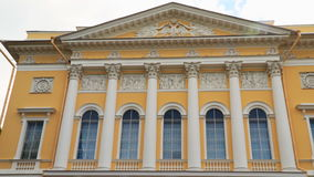 The facade of the State Russian Museum building in St. Petersburg stock video footage