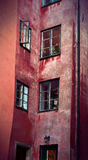 Facade in Stockholm old town Stock Photos