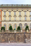 The facade of Stockholm Royal Palace Kungliga slottet, Stockholm, Sweden Royalty Free Stock Photography