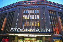 Facade of the Stockmann shopping centre in Helsinki Royalty Free Stock Image
