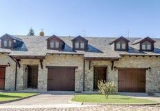 Facade of stone house Stock Photography