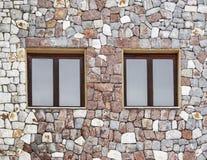 Facade. Stone wall facade with windows royalty free stock photography