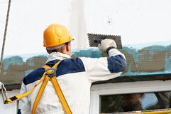 Facade stopping and surfacer works Stock Photos