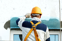 Facade stopping and surfacer works Stock Image