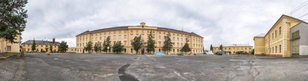 Facade of the Stredni Skola at Rokycany Royalty Free Stock Images