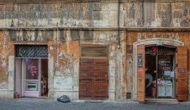 Facade of a street in Rome royalty free stock images