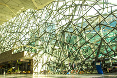 Facade structure shade and shadow building in Melbourne Stock Photo